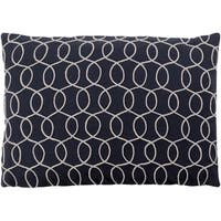 "Decorative Lilith Black 13"" x 19"" Throw Pillow Cover"