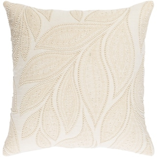 Decorative Leigh Cream 20-inch Throw Pillow Cover