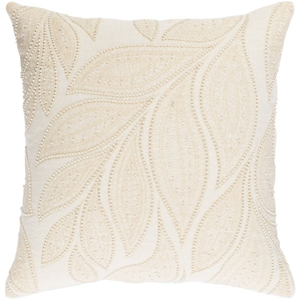 Decorative Leigh Cream 20-inch Throw Pillow Cover