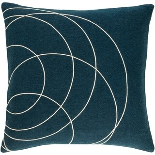 Decorative Liana Dark Blue Throw Pillow Cover (20 x 20)