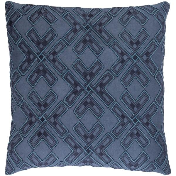Decorative Lauren Navy 22-inch Throw Pillow Cover