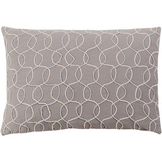 """Decorative Lilith Slate Grey 13"""" x 19"""" Throw Pillow Cover"""