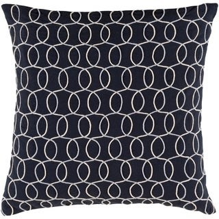 Decorative Lilith Black 20-inch Throw Pillow Cover