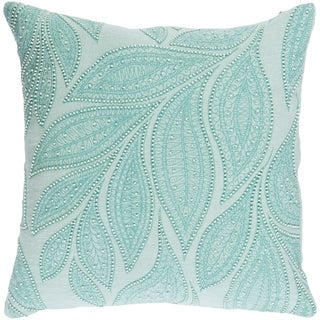 Decorative Leigh Mint 20-inch Throw Pillow Cover