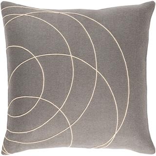 Decorative Liana Grey Throw Pillow Cover (20 x 20)