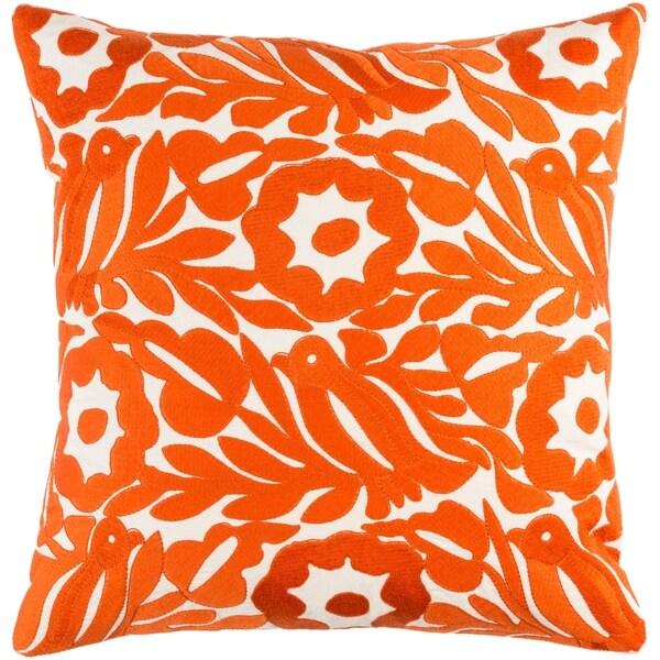 Shop Decorative Lami Orange 20 Inch Throw Pillow Cover Free
