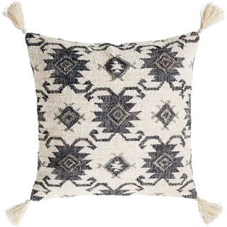 Maddox Traditional Black Poly Filled Throw Pillow 30 inch