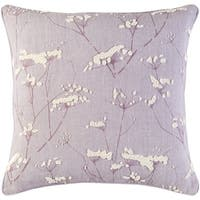 Decorative Pipa Purple 22-inch Throw Pillow Cover