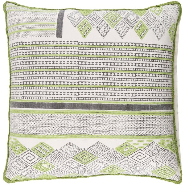 Decorative Prance Lime Throw Pillow Cover (20 x 20)