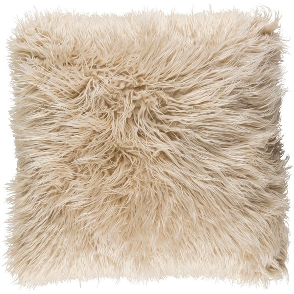 Decorative Pearland Beige 22-Inch Throw Pillow Cover