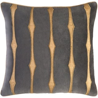 Decorative Pool Charcoal 18-inch Throw Pillow Cover