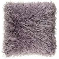 Decorative Pearland Ash Grey 22-Inch Throw Pillow Cover