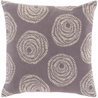 Decorative Cailyn Charcoal Circles and Dots 18-inch Throw Pillow Cover