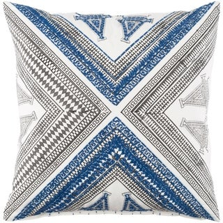 Decorative Lizze Blue 22-inch Throw Pillow Cover