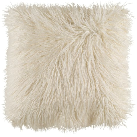 Decorative Pearland Ivory 18-Inch Throw Pillow Cover