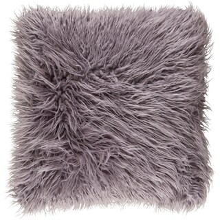 Decorative Pearland Ash Grey 20-Inch Throw Pillow Cover