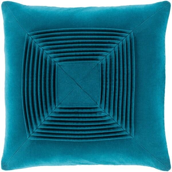 Quadratum Velvet Teal Throw Pillow Cover 20-inch