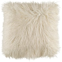Decorative Pearland Ivory 20-Inch Throw Pillow Cover