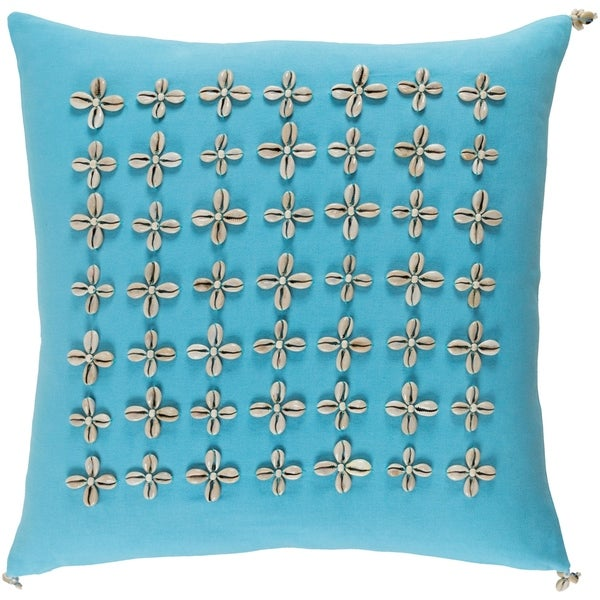 Decorative Rotorua Sky Blue 22-inch Throw Pillow Cover