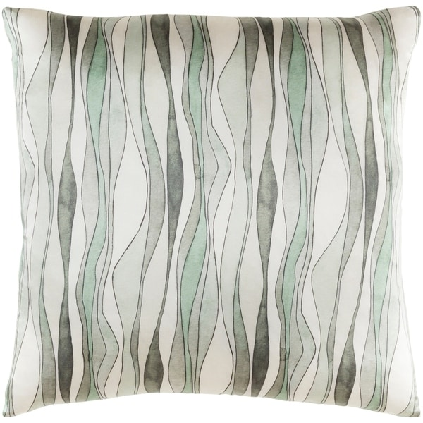 Decorative Surbiton Mint Throw Pillow Cover (20 x 20)