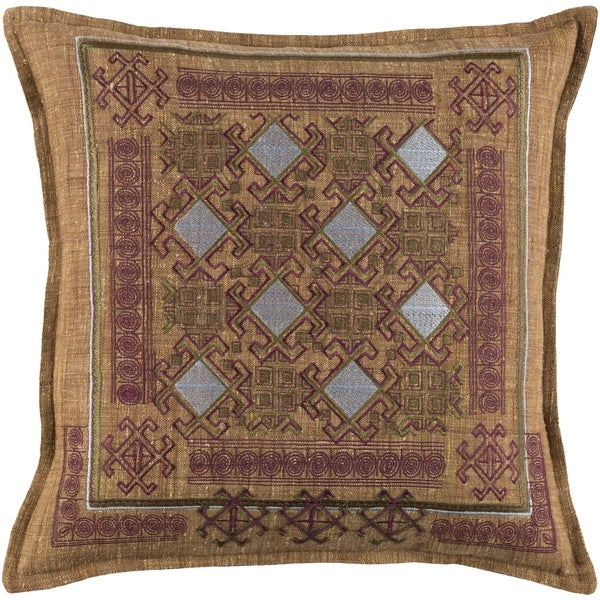 Decorative Rachel Burgundy 22-inch Throw Pillow Cover