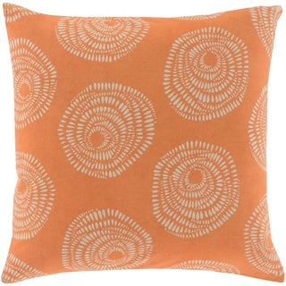 Decorative Cailyn Rust Circles and Dots 22-inch Throw Pillow Cover