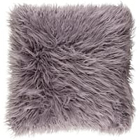 Decorative Pearland Ash Grey 18-Inch Throw Pillow Cover