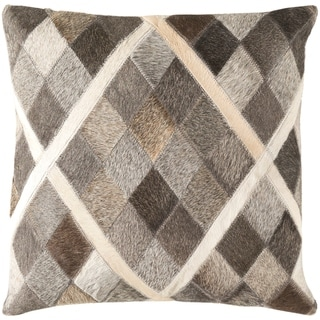 Decorative Rockford Taupe 18-inch Throw Pillow Cover