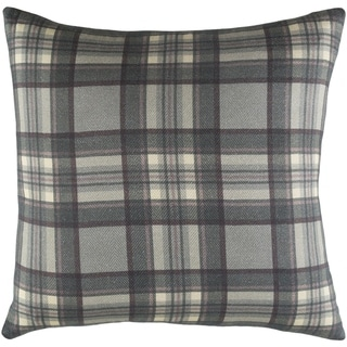 "Decorative Romainville Dark Grey Pillow Cover (20"" x 20"")"