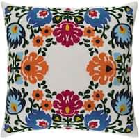 Decorative Rossington White 20-inch Throw Pillow Cover
