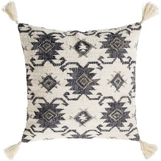 Maddox Traditional Black Throw Pillow Cover 30 inch