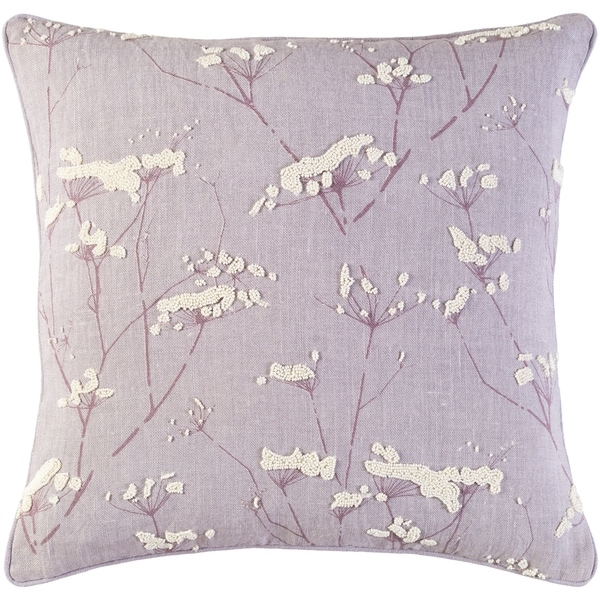 Decorative Pipa Purple 18-inch Throw Pillow Cover