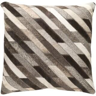 Decorative Rochefort Dark Brown 18-inch Throw Pillow Cover