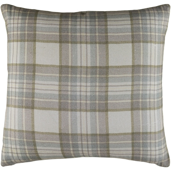 "Decorative Romainville Light Grey Pillow Cover (20"" x 20"")"