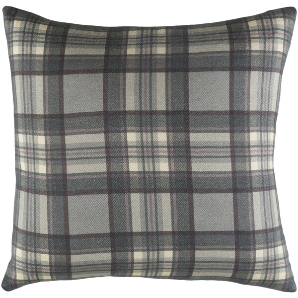 "Decorative Romainville Dark Grey Pillow Cover (22"" x 22"")"