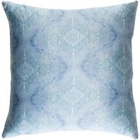 Decorative Puteaux Denim 18-inch Throw Pillow Cover