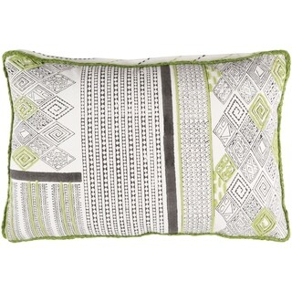 Decorative Prance Lime Throw Pillow Cover (13 x 19)