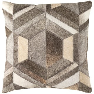 Decorative Roanne Taupe 18-inch Throw Pillow Cover