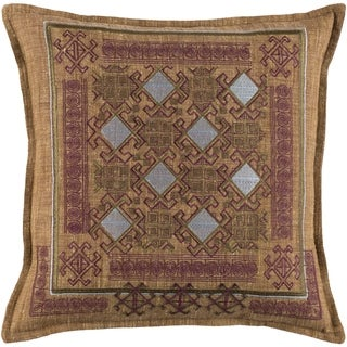 Decorative Rachel Burgundy 18-inch Throw Pillow Cover