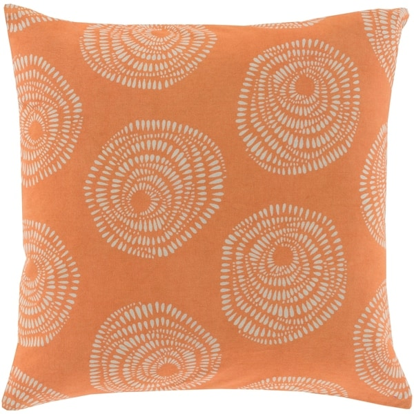 Decorative Cailyn Rust Circles and Dots 20-inch Throw Pillow Cover