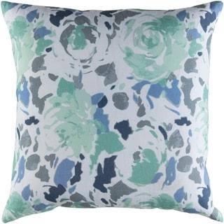 Decorative Sain Blue 22-inch Throw Pillow Cover