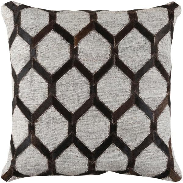 Decorative Schroeder Dark Brown 20-inch Throw Pillow Cover
