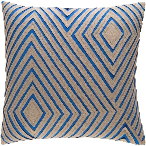 Decorative Sandi Beige 18-inch Throw Pillow Cover