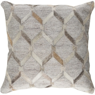 Decorative Schroeder Light Grey 18-inch Throw Pillow Cover