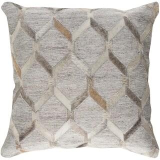 Decorative Schroeder Light Grey 18-inch Throw Pillow Cover