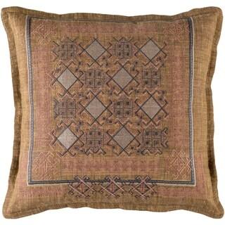Decorative Rachel Camel 22-inch Throw Pillow Cover