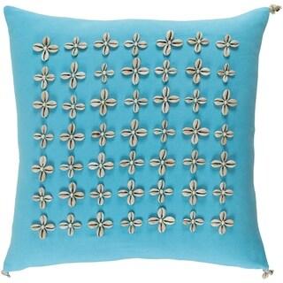 Decorative Rotorua Sky Blue 20-inch Throw Pillow Cover