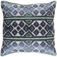 Decorative Sigatoka Navy 22-inch Throw Pillow Cover