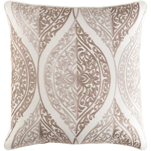 Decorative Somerton Taupe 20-inch Throw Pillow Cover