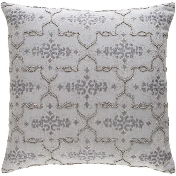 Decorative Savusavu Grey 22-inch Throw Pillow Cover
